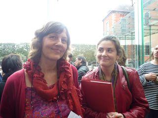 Brigitte Gloire (Oxfam Solidarité) et Gwenaëlle Martin (FUGEA)