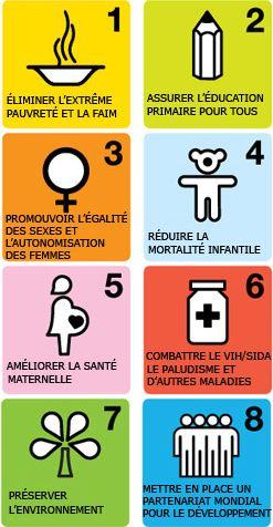 Les 8 Objectifs du Millénaire pour le Développement